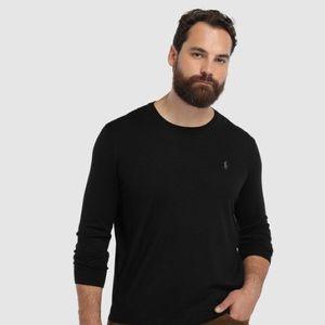 NWT$148 RALPH LAUREN black merino wool sweater M